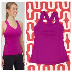 Lululemon Push UR Limits tank Possibly purple potion. Great Preloved condition. Tight fit, light support, medium coverage. Luxtreme. Mesh panel in back. Does not include cup inserts. No trades. No PayPal. lululemon athletica Tops Tank Tops