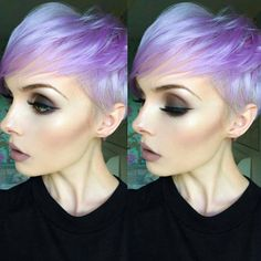 * Electric Purple Pixie.. Molly Bee/ @beautsoup #btcapproved #behindthechair