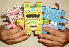 papercraft toys - Google Search