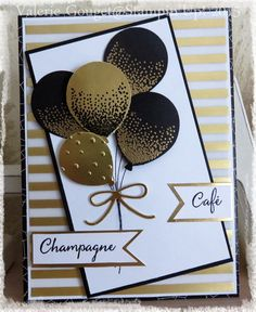 Such a pretty card, love the balloons in gold!