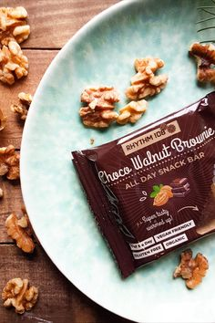 Full of wholefoods like nuts, dates, and orchard fruit, these cake bars have two purposes: they provide long-lasting energy and that little bit of extra indulgence we all need to get us through the day - especially when you warm them up! (in your oven at home, at the office, or even on a campfire!) #snackbar #vegan #dates #rhythm108 Chocolate Hazelnut, Mini Chocolate Chips, Tea Biscuits, Filled Cookies, Cake Bars, Snack Bar, Whole Food Recipes, Dates, Bakery