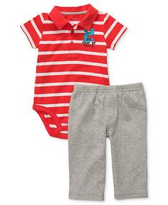 Carters Baby Set, Baby Boys Two-Piece Striped Polo Bodysuit and Pants - Kids Baby Boy (0-24 months) - Macys