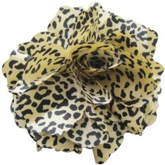 Fluerettes Animal Print Flower 1PkgCheetahBeige Black *** Details can be found by clicking on the image. (This is an affiliate link) #HairClips