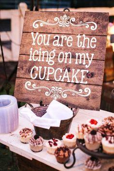 fall wedding cupcake dessert table ideas