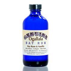 Ogallala Bay Rum and Vanilla Aftershave, Pre-Shave, Skin Toner - Fendrihan