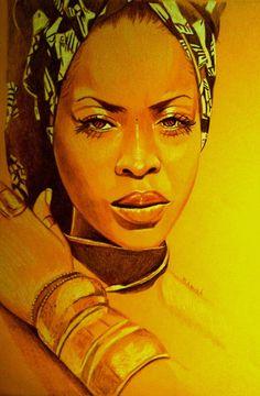 Erykah badu Art Print by Dezz Manuel - X-Small Black Girl Art, Black Women Art, Black Girls Rock, Art Afro, Afrique Art, Foto Poster, Black Art Pictures, Natural Hair Art, Black Artwork