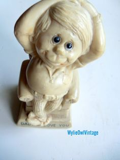 Vintage Dad I Love You 1975 Russ Berrrie Statue by WylieOwlVintage, $6.00