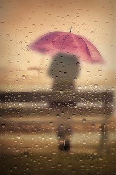 I love Rain I Love Rain, No Rain, Rain Fall, Umbrella Art, Under My Umbrella, Pink Umbrella, Walking In The Rain, Singing In The Rain, Rainy Night