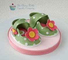 Baby Shoes Cake Topper by The Clever Little Cupcake Company (Amanda), via Flickr