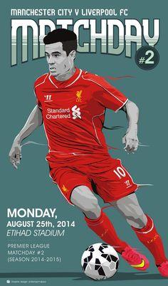 ♠ Matchday #2 - Manchester City VS Liverpool FC #LFC #Artwork