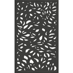 x 3 ft. Framed Charcoal Gray Decorative Composite Fence Panel featured in The Leaf Design - - The Home Depot Decorative Fence Panels, Garden Fence Panels, Fence Gate, Bamboo Fence, Metal Fence, Composite Fencing, Composite Material, Outdoor Screens, Privacy Screens