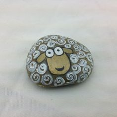 Sooo cute!!! Hand painted rock. Paperweight or great decoration for houseplants. Approximately 3""