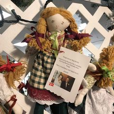 Danish dolls by Ellen Marmon Holiday Market, Christmas Eve, Burlap Wreath, Danish, Gift Guide, Teddy Bear, Marketing, Dolls, Kids