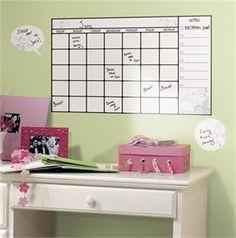 Dry Erase Calendar Wall Decal Set