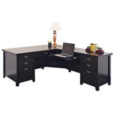 Tribeca Loft Desk and Keyboard Return in Black