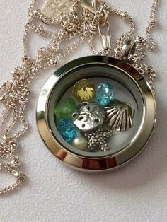 Origami Owl - beach theme with beach colors! Order at: www.tamralynn.origamiowl.com/ Like me at: https://www.facebook.com/O2tamralynn