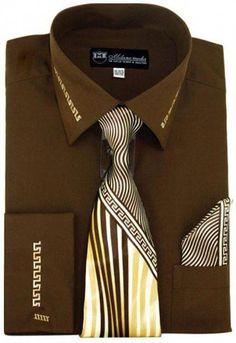 Chemise Homme Bouton de Manchette Cravate link /& hankie blanc silver brillant trim design
