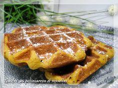 Gourmande sans gluten: Gaufre au potimarron et noisettes Healthy, Breakfast, Lactose, Desserts, Pain, Food, Irene, Pancakes, Molten Lava Cakes