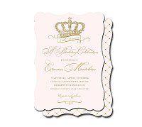 Royal celebration invitation by Loralee Lewis