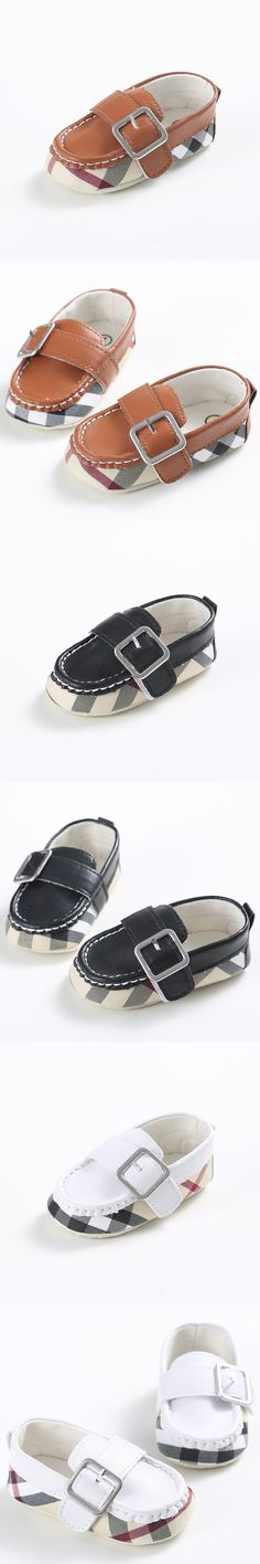 Handmade High Quality Baby Boy Casual Shoes PU Leather Solid Buckle Strap First Walkers Soft Sole Spring/Autumn Baby Shoes $5.99