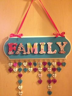 Such a cute way to keep track of everyone's birthday! {Family Birthday Calendar}