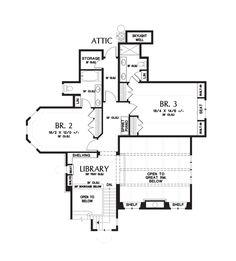 Upper Floor Plan of Mascord Plan 2470 - The Rivendell Manor