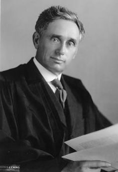 """Justice Louis Brandeis - crusader for social and political reform. Nominated in 1916 by President Woodrow Wilson to serve on the Supreme Court. Louis Brandeis (13 November 1856-5 October 1941). Louisville (Kentucky) native. Known as """"the people's lawyer"""" and a militant crusader for social justice."""
