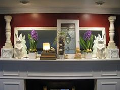 JOYS OF HOME: An Edgy Easter Mantle
