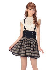 Liz Lisa Stripe Navy Skirt - $61.95