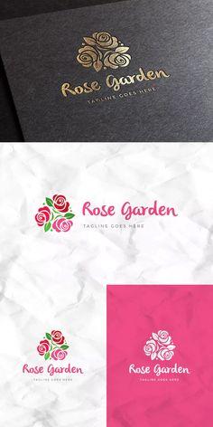 Rose Garden Logo Template AI, EPS