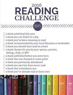 The 2016 Reading Challenge.   Modern Mrs. Darcy   Bloglovin'