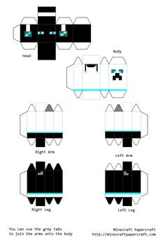 minecraft paper crafts, templates - Google Search Minecraft W, Minecraft Skins, Jumping Jacks, Toothless, Kids Crafts, Projects To Try, Minecraft Toys, Minecraft Birthday Party, Birthday Party Ideas