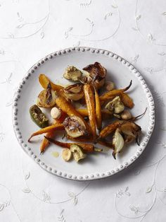 Roasted Carrots with Almonds and Olives