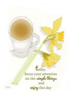 Yellow Cottage, Spring Bulbs, Love Me Quotes, Finding Joy, Simple Way, Simple Things, Simple Living, Tableware, Daffodils