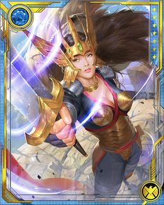 Dani's Valkyrie powers were granted by Hela herself, and Hela can withdraw them… Marvel Cards, Lady Sif, Black Panther Art, Batman, Pretty Wallpapers, Hero Arts, Comic Character, X Men, Lovers Art