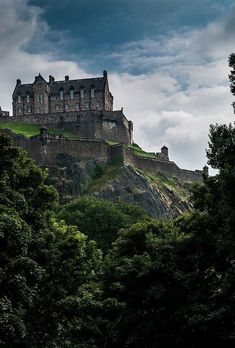 At the Edinburgh Castle in Scotland.