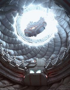 Spaceship art by Paul Pepera