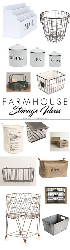Get your home organized without sacrificing style by using these amazing farmhouse storage ideas. Perfect for use in closets and on shelves and adding that fixer upper style!
