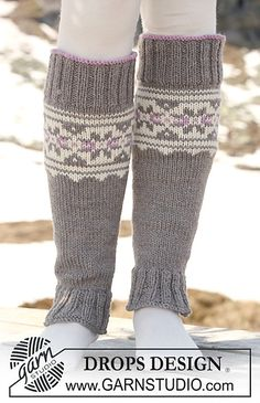 "Ravelry: 116-35 Leg warmers with multi coloured pattern in ""Alaska"" pattern by DROPS design"