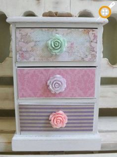 Items similar to Personalized Jewelry Box Trinkets Chest Collectibles Shabby Chic Floral Gift for Girls Pink Lavender Fairy Fairies Garden Treasure Chest on Etsy Decoupage Furniture, Decoupage Box, Hand Painted Furniture, Shabby Chic Furniture, Diy Furniture, Wooden Jewelry Boxes, Jewellery Boxes, Shabby Chic Pink, Shabby Chic Decor