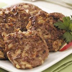 Savory Apple-Chicken Sausage recipe: These easy, healthy sausages taste great, and they make an elegant brunch dish. The recipe is also very versatile. It can be doubled or tripled for a crowd, and the sausage freezes well either cooked or raw. -Angela Buchanan of Longmont, Colorado
