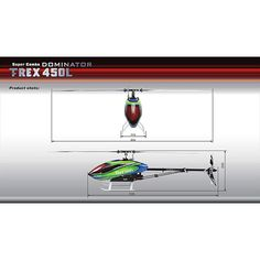 Align T-Rex RH45E10XW Trex450L DOMINATOR Super Combo Rc Helicopter, Radio Control, Helicopters, T Rex, Hobbies, Toys, Fun, Activity Toys, Clearance Toys