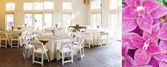 http://weddingrowcharlotte.com/  published this picture bringing the outdoors inside providing guest a cool place to eat.  The VanLandingham Estate