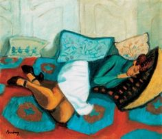 Róbert Berény (Hungarian, 1887–1953) - Sleeping woman, c. 1925-29