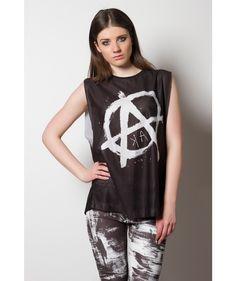 Anarchy Mesh Vest - Women  #womenswear #menswear #unisex #oversized #vintage #shirt #summer #fashion #style #clothing #graffiti