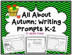 Here are 20 writing prompts with large graphics and writing lines for early writers. The prompts are:I like fall because...If I could dress a scarecrow it would wear...In my fall basket I will put...My favorite fall sport is...If I could go camping in the fall I would...My favorite Halloween costume is...I am very thankful for...Some foods made with apples are...The best colors of fall are...I can make a jack-o-lantern with...My favorite thing about football is...On my trip to the pumpkin pa...
