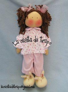 Muñeca de trapo Paulette   Manualidades