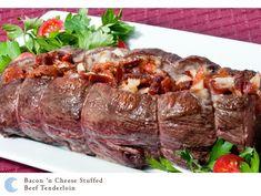 Bacon 'n Cheese Stuffed Beef Tenderloin