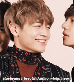 so cute these two :) taehyung and his hyung minho at the fotoshoot from their drama Hwarang