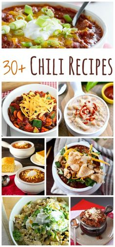 30+ Chili Recipes fo